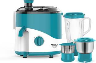 MAHARAJA WHITELINE Odacio Prime / JX1-161 550 W Juicer Mixer Grinder (3 Jars, Blue, White)