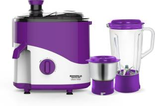MAHARAJA WHITELINE JX1-160 Odacio Smart 450 W Juicer Mixer Grinder (2 Jars, White, Purple)