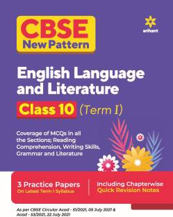 Cbse New Pattern English Language and Literature Class 10 for 2021-22 Exam (MCQS Based Book for Term 1)