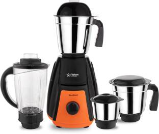Flipkart SmartBuy Power Chef Maxi Blend 750 W Juicer Mixer Grinder (4 Jars, Black, Orange)