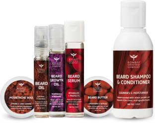 BOMBAY SHAVING COMPANY 6-in-1 Complete Beard Care Kit for Men