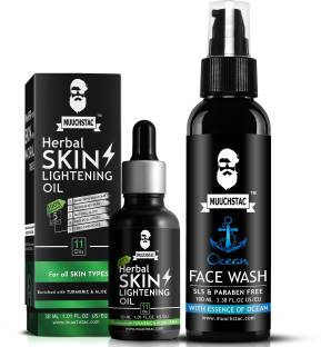 MUUCHSTAC Skin Lightening Oil and Face Wash