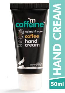 MCaffeine Naked & Raw Coffee Hand Cream | Mattifying | Almond Oil, Shea Butter | All Skin | Paraben & Silicone Free