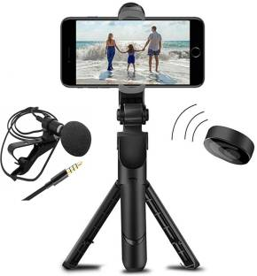 AFFENDS High Quality Selfie stick | Tablet Tripod | 3in1 Selfie Stick multi-function Wireless Bluetooth | Tripod | XT-02 Selfie Stick with Remote & Coller Mic Shutter 360 Rotate Extendable Handheld Foldable Mini Tripod Stand Foldable | Bluetooth shutter for Smartphones Professional Remote Control Selfie Stick Monopod 3 Axis Gimbal
