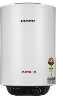 CROMPTON 15 L Storage Water Geyser (Amica, Black, White)
