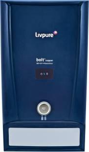 LIVPURE LIV-BOLT+COPPER(RO+UF+MIN) 6.5 L RO + UF Water Purifier