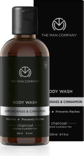 THE MAN COMPANY Charcoal Body Wash with Lemongrass & Cinnamon Essential Oil