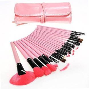SKINPLUS 24 PCS Professional Makeup Brushes Set Natural Cosmetic Brush set with Pouch Case
