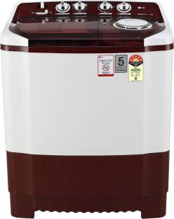 LG 7.5 kg Semi Automatic Top Load Red, White