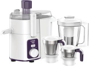 HAVELLS Hexo 3 Jar 1000 W Juicer Mixer Grinder (3 Jars, White, Purple)
