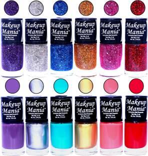 Makeup Mania Exclusive Nail Polish Set of 12 Pcs. Multicolor MM-92