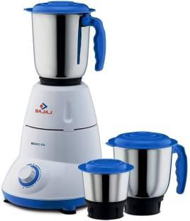 BAJAJ 410175 BRAVO DLX 500 W Mixer Grinder (3 Jars, White, Black)