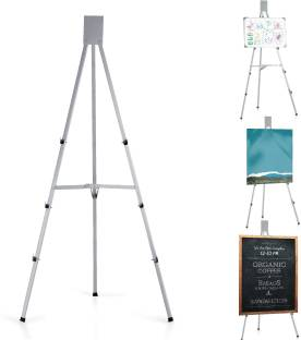 Eduway Portable Presentation Tripod Stand For Whiteboard & Notice Board & Painting Board   Light Weight   Portable   Suitable For Size Upto 5x3ft (Only Whiteboard Stand) White board