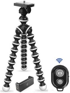 Marklif Gorilla Tripod/Mini Tripod 13 inch with Remote for Mobile Phone with Holder for Mobile, Flexible Gorilla Stand for DSLR & Action Cameras Tripod Kit