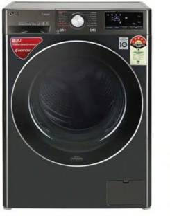 LG 7 kg Fully Automatic Front Load with In-built Heater Black