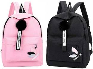 HappyChild Pack of 2 Girls ( PU Leather ) School/Coll1ege/Casual/Tuition Backpack ( 14 L ) Girls/Women...
