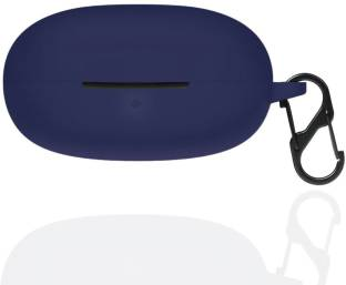 Telca Pouch for DIZO GoPods D  Soft Silicone Black Case Protective Cover with Clip (Headphone NOT Included)