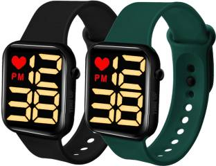 Time Up Fabulous Combo of 2 LED Kids Watches Smartwatch