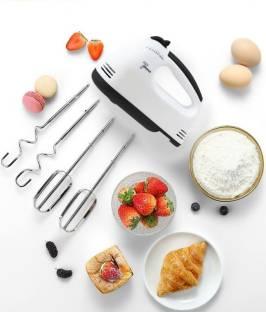 krenz 7-Speed Electric Hand Mixer / Hand Blender for Ice-cream, Cake Cream, Lassi, Butter Milk Maker, Whisker, Egg beater with Stainless Steel Attachments 260 W Hand Blender
