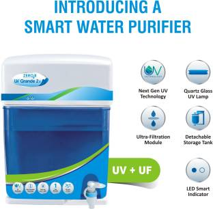 Zero B UV Grande 2X UV+UF 4 stage purification with 6 Liter storage capacity 6 L UV + UF Water Purifie...