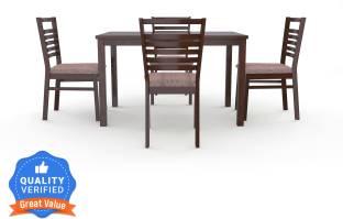 @Home by nilkamal Gem Solid Wood 4 Seater Dining Set