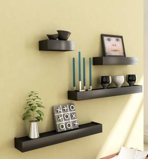 HOME SPARKLE Set of 4 MDF (Medium Density Fiber) Wall Shelf