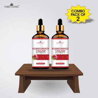 PARK DANIEL 100% Pure Kumkumadi Tailum Face Oil- For Radiant, Healthy & Natural Glow Skin Combo pack of 2 bottles of 30 ml(60 ml)