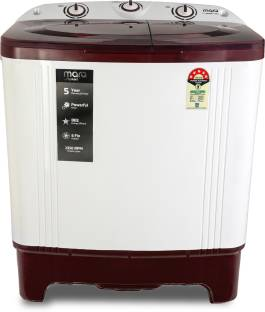 MarQ By Flipkart 6 kg 5 Star Rating Semi Automatic Top Load White, Maroon