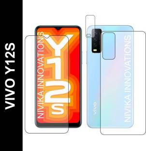 Riptansh Front and Back Tempered Glass for VIVO Y12S