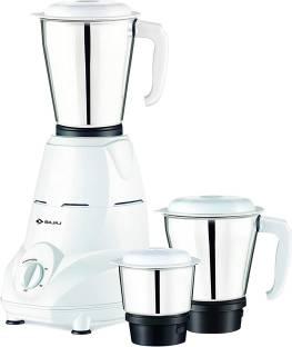 BAJAJ Rex 500 W Mixer Grinder (3 Jars, White)