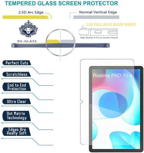 Bigil Tempered Glass Guard for Realme Pad 10.4 inch, Crystal Clear, Multi-Level Protection, Easy Precise Installation