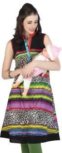 6a4cbc4950 Mama & Bebe Solid Women's Maternity Wear Kurti - Buy PURPLE Mama ...
