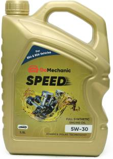 GoMechanic Speed 5W30 API SN+ Advance Polar Technology High Performance Longer Protection Full Synthetic Engine Oil For All Passenger Cars Speed 5W30 3.5L Full-Synthetic Engine Oil