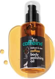 MCaffeine Naked & Raw Coffee Body Polishing Oil | Nourishing | Olive Oil, Vitamin E | All Skin | Mineral Oil Free