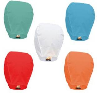 SantaStores Chinese Multicolor Paper Sky Lantern
