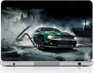 Finest Car With Chain Vinyl Laptop Decal 15.6