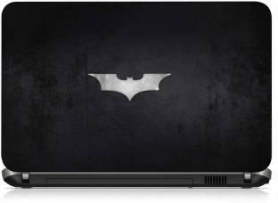 VI Collections SILVER BAT ON BLACK METAL PVC  Polyvinyl Chloride  Laptop Decal 15.6