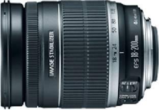 Canon EF S 18   200 mm f/3.5 5.6 IS Lens Lens Black  Canon Camera Lenses