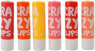 Stardeals Star Deals NYN Crazy Lip Balm Pack Of 6 Multi Flavor Natural