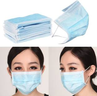 Vmd 100pcs Disposable Face Masks Elastic Earloop Type Surgical Mask