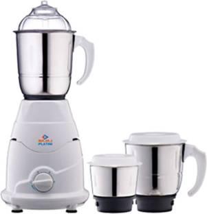 BAJAJ PX7 500 W Mixer Grinder (3 Jars, White)
