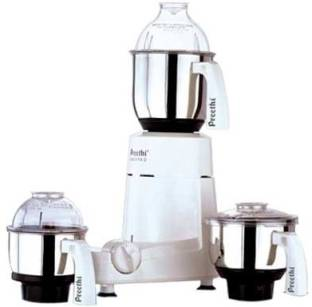 Preethi Chefpro - MG 128 Super Grind 750 W Mixer Grinder (3 Jars, White)