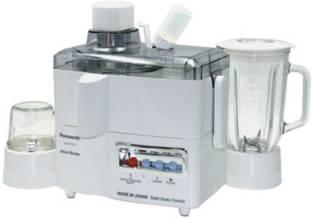 Panasonic PA-MJ-M176 270 W Juicer Mixer Grinder (2 Jars, White)