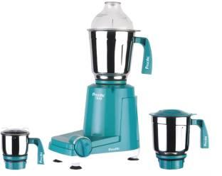 Preethi Trio - MG 158 Economy 500 W Mixer Grinder (3 Jars, Blue with White base)