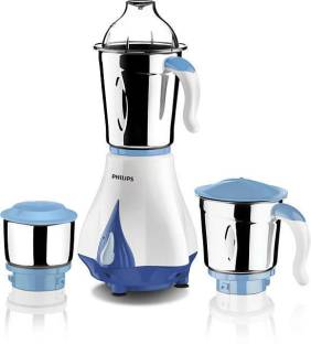 PHILIPS HL7511 Daily Collection 550 W Mixer Grinder (3 Jars, White & Blue)