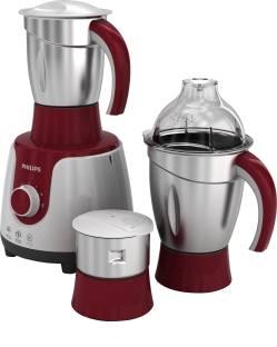 PHILIPS HL7710 /00 600 W Mixer Grinder (3 Jars, Red, White)