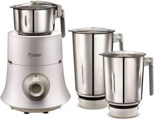Prestige Teon 750 W Mixer Grinder (3 Jars, White)