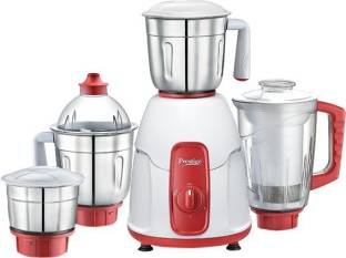 Prestige Elegant mixer 750 W Mixer Grinder (4 Jars, white and red)