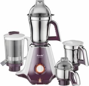 Preethi Taurus MG 217 750 W Mixer Grinder (4 Jars, white and purple)
