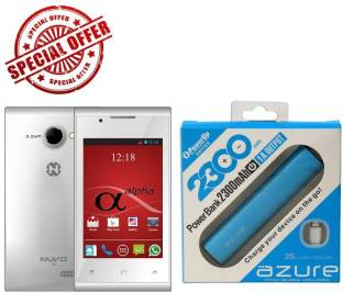 Nuvo alpha with free power bank (White, 4 GB)